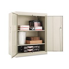 "Assembled 42"" High Storage Cabinet, w/Adjustable Shelves, 36w x 18d, Putty"