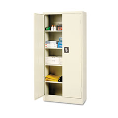 Alera® Space Saver Storage Cabinet, Four Shelves, 30w x 15d x 66h, Putty