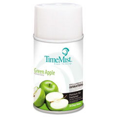 TimeMist® Premium Metered Air Freshener Refill, Green Apple, 5.3 oz Aerosol, 12/Carton