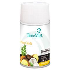 TimeMist® Premium Metered Air Freshener Refill, Pina Colada, 6.6 oz Aerosol, 12/Carton