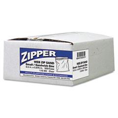 Handi-Bag® Recloseable Zipper Seal Sandwich Bags, 1.15mil, 6.5 x 5.875, Clear, 500/Box WBIZIP1SS500
