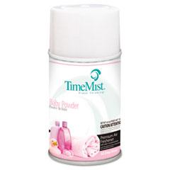 TimeMist® Premium Metered Air Freshener Refill, Baby Powder, 5.3 oz Aerosol, 12/Carton