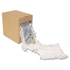 "Boardwalk® Flash Forty Disposable Dustmop, Cotton, 5"", Natural"