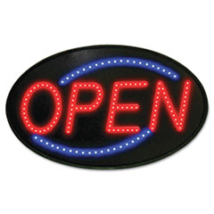 Newon® Newon LED Sign, Red/Blue, 13 x 21