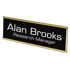 Custom Door/Wall Sign, 2x8, Gold Holder, ABS Sign