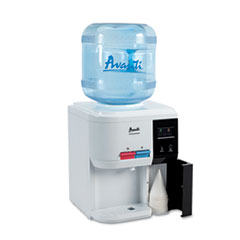 Avanti Tabletop Thermoelectric Water Cooler, 13.25 dia. x 15.75 h, White