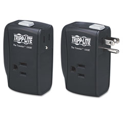 Tripp Lite Protect It! Portable Surge Protector, 2 Outlets, Direct Plug-In, 1050 Joules