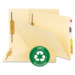 Smead® 100% Recycled Manila End Tab Folders with Fasteners Thumbnail