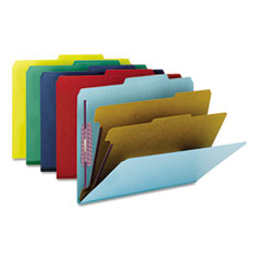 Smead® Six-Section Colored Pressboard Top Tab Classification Folders with SafeSHIELD® Coated Fastene Thumbnail