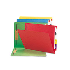 Smead® Heavyweight Colored End Tab Folders with Fasteners Thumbnail