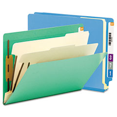 Smead® Colored End Tab Classification Folders with Dividers