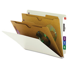 Smead® Extra-Heavy Two Pocket Divider End Tab Pressboard Classification Folders with SafeSHIELD® Coa Thumbnail