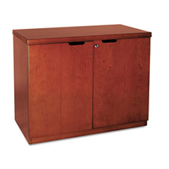 Mira Series Veneer 36W Hinged Door Credenza, 36w x 20d x 29h, Medium Cherry