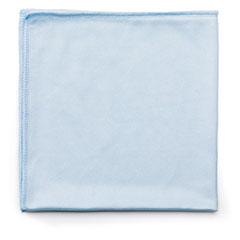 Rubbermaid® Commercial Executive Series Hygen Cleaning Cloths, Glass Microfiber, 16 x 16, Blue, 12/Ct