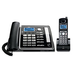 RCA® ViSYS 25255RE2 Two-Line Corded/Cordless Phone System with Answering System