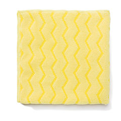 Rubbermaid® Commercial Reusable Cleaning Cloths, Microfiber, 16 x 16, Yellow, 12/Carton