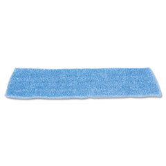 "Rubbermaid® Commercial Economy Wet Mopping Pad, Microfiber, 18"", Blue, 12/Carton"