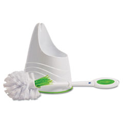 Toilet Brush and Caddy, Green
