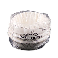 Coffee Pro Basket Filters for Drip Coffeemakers, 10 to 12-Cups, White, 200 Filters/Pack