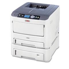 Oki C610DTN LED Printer - Color - 1200 x 600 dpi Print - Plain Paper Print - Desktop - 34 ppm Mono / OKI62433405