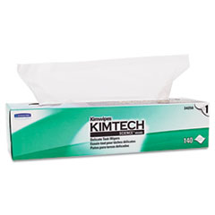 Kimtech™ Kimwipes Delicate Task Wipers, 1-Ply, 16 3/5 x 16 5/8, 140/Box