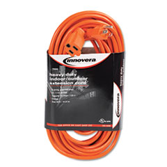 Innovera® Indoor/Outdoor Extension Cord, 50ft, Orange