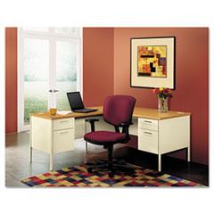 "HON® Metro Classic Series Single Pedestal ""L"" Workstation Desk"