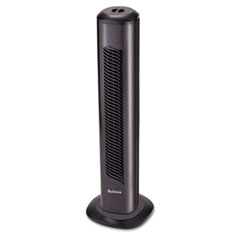 "Holmes® Oscillating Tower Fan, Three-Speed, Black, 5 9/10""W x 31""H"