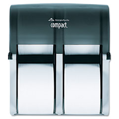 Compact Four Roll Coreless Tissue Dispenser, 11 7/8 x13 7/8 x 7 1/2, Smoke