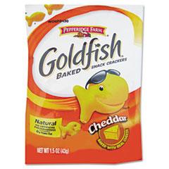 Goldfish Crackers, Cheddar, Single-Serve Snack, 1.5oz Bag, 72/Carton