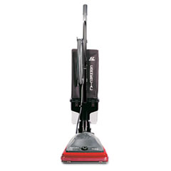 Commercial Lightweight Bagless Upright Vacuum, 14lb, Gray/Red