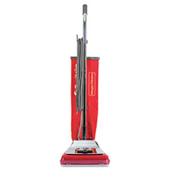 Sanitaire® TRADITION Bagged Upright Vacuum, 7 Amp, 17.5 lb, Chrome/Red