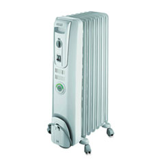 DeLONGHI ComforTemp Oil-Filled Radiator, Off-White, 13 4/5 x 9 1/10 x 25 1/5