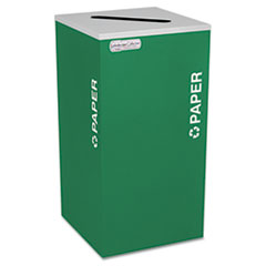 Ex-Cell Kaleidoscope Collection Paper-Recycling Receptacle, 24 gal, Emerald Green