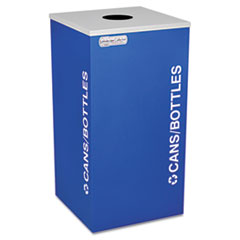 Ex-Cell Kaleidoscope Collection Bottle/Can-Recycling Receptacle, 24gal, Royal Blue