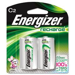 Energizer® NiMH Rechargeable Batteries, C, 2 Batteries/Pack