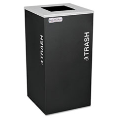 Ex-Cell Kaleidoscope Collection Trash Receptacle, 24 gal, Black