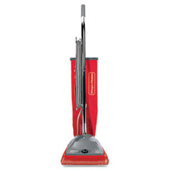 Sanitaire® TRADITION Upright Bagged Vacuum, 5 Amp, 19.8 lb, Red/Gray