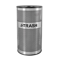 Ex-Cell Stainless Steel Trash Receptacle, 33 gal, Stainless Steel