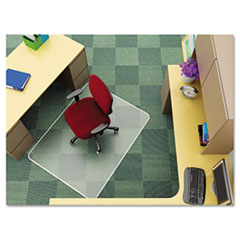 EconoMat Chair Mat for Low Pile Carpet, 46w x 60h, Clear