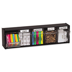 deflecto® Tilt Bin® Interlocking Multi-Bin Storage Organizer