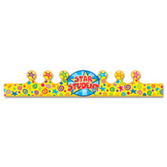 Student Crown, Star, 4 x 23 1/5, 30/Pack
