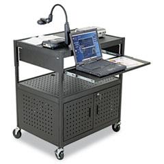 BALT® Height-Adjustable FDB AV Cart, Steel, 32-1/4w x 24-1/4d x 31 to 39h, Black