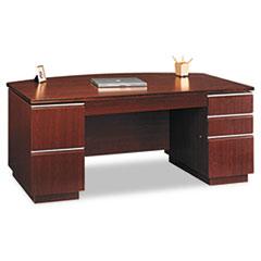 Bush® Milano2 Collection Bow Front Double Pedestal Desk
