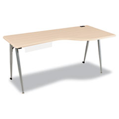 BALT® iFlex Series Full Table, 65w x 31d x 29h, Teak/Silver