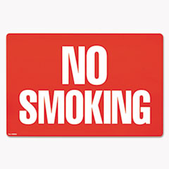 COSCO Two-Sided Signs, No Smoking/No Fumar, 8 x 12, Red