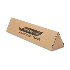 Triangular Mailing Tube, 18l x 4w x 4h, Brown, 12/Pack