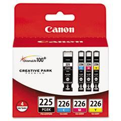 Canon® 4530B008AA (PGI-225, CLI-226) Ink, Cyan/Magenta/Pigment Black/Yellow, 4/PK