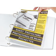 "Top-Load Polypropylene Sheet Protectors, Standard, Letter, Clear, 2"", 100/Box"