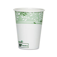 Dixie® EcoSmart Hot Cups, Paper w/PLA Lining, Viridian, 8oz, 50/Pack